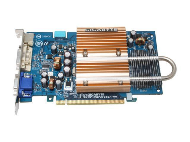 GIGABYTE GV-NX73T256P-RH GeForce 7300GT 256MB 128-bit GDDR2 PCI Express x16 SLI Support Video Card