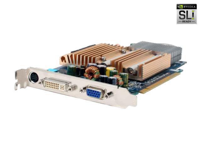 GIGABYTE GV-NX76G512P-RH GeForce 7600GS 512MB 128-bit GDDR2 PCI Express x16 SLI Support Video Card