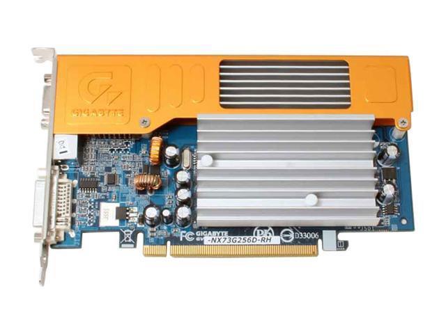 GIGABYTE GV-NX73G256D-RH GeForce 7300GS 512MB(256MB on Board) 64-bit GDDR2 PCI Express x16 SLI Support Video Card