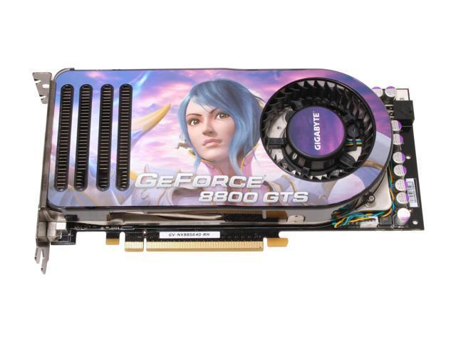 GIGABYTE GV-NX88S640H-RH GeForce 8800 GTS 640MB 320-bit GDDR3 PCI Express x16 HDCP Ready SLI Support Video Card
