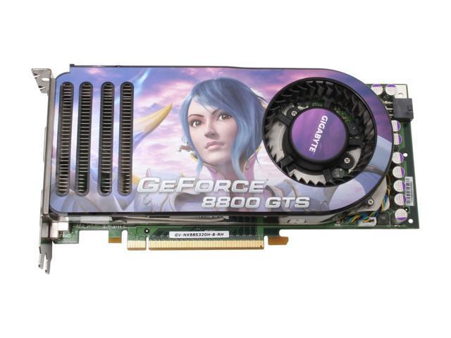 GIGABYTE GV-NX88S320H-B-RH GeForce 8800 GTS 320MB 320-bit GDDR3 PCI Express x16 HDCP Ready SLI Support Video Card