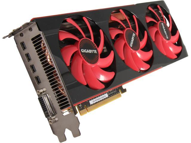 GIGABYTE Radeon HD 7990 DirectX 11.1 GV-R799D5-6GD-B Video Card