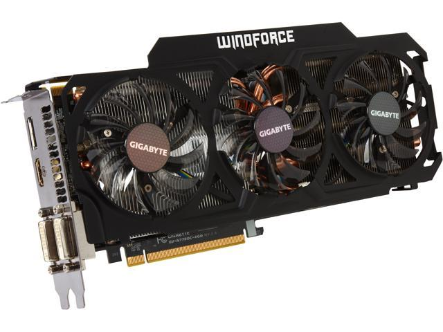 GIGABYTE GeForce GTX 770 GV-N770OC-4GD WindForce 3X 450W Video Card