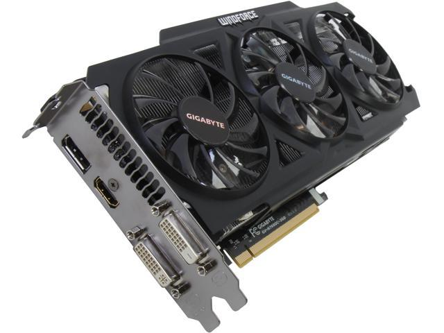 GIGABYTE GeForce GTX 760 DirectX 11.1 GV-N760OC-2GD REV2.0 WindForce 3X 450W Video Card