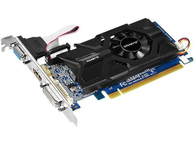 GIGABYTE GeForce GT 630 DirectX 11 GV-N630D3-2GL 2GB 64-Bit DDR3 PCI Express 2.0 HDCP Ready Low Profile Video Card