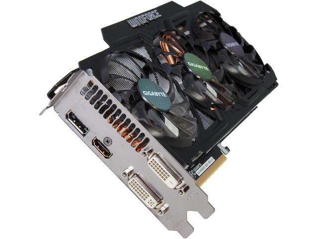 GIGABYTE GeForce GTX 760 DirectX 11.1 GV-N760OC-4GD WindForce 3X 450W Video Card