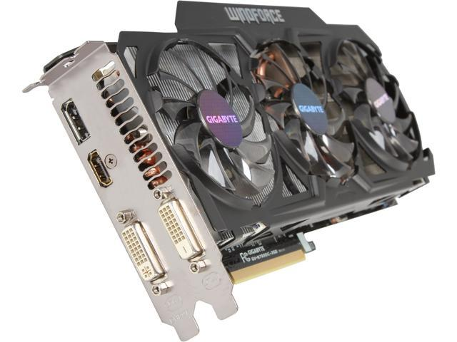 GIGABYTE GV-N780OC-3GD REV2.0 G-SYNC Support GeForce GTX 780 3GB 384-Bit GDDR5 PCI Express 3.0 HDCP Ready WindForce 3X 450W Video Card