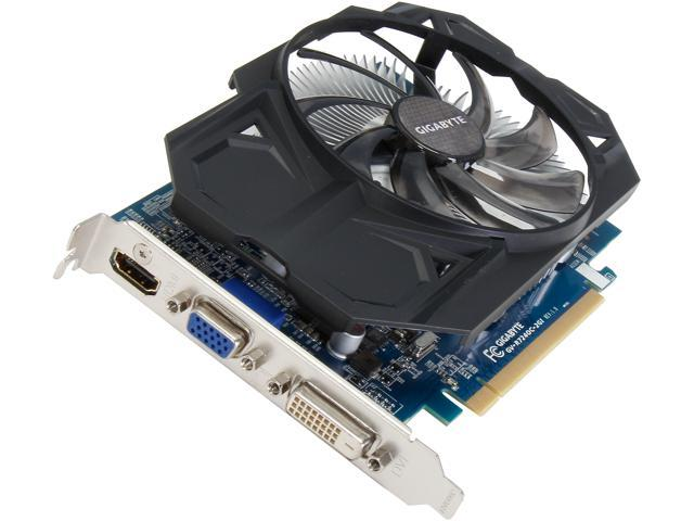 GIGABYTE Radeon R7 240 DirectX 11.1 GV-R724OC-2GI 2GB 128-Bit DDR3 PCI Express 3.0 HDCP Ready Video Card