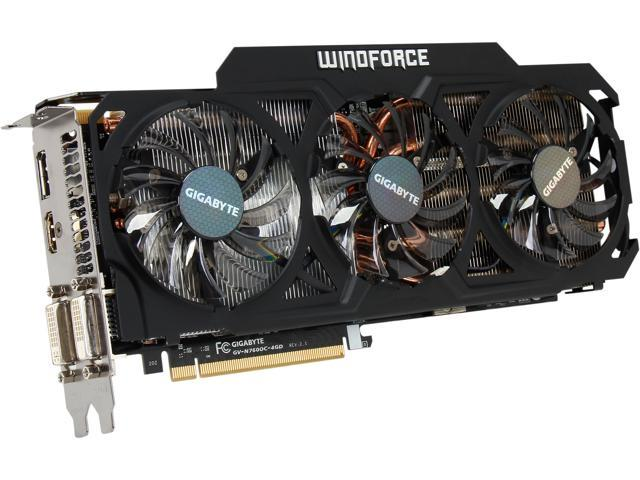 GIGABYTE GeForce GTX 760 DirectX 11.2 GV-N760OC-4GD REV2.0 4GB 256-Bit GDDR5 PCI Express 3.0 ATX Gaming Graphics Card