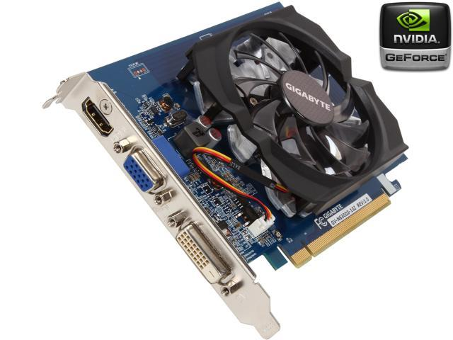 GIGABYTE GeForce GT 630 DirectX 11.1 GV-N630D3-1GI 1GB 64-Bit DDR3 PCI Express 2.0 HDCP Ready Video Card