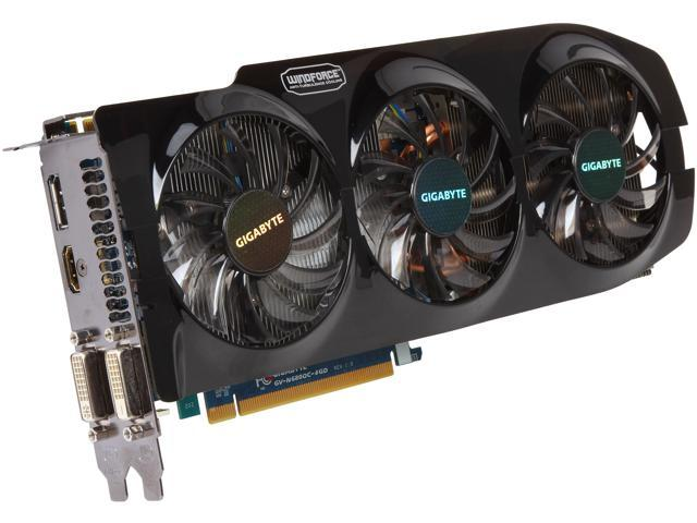 GIGABYTE GV-N680OC-4GD GeForce GTX 680 4GB 256-Bit GDDR5 PCI Express 3.0 x16 HDCP Ready SLI Support Video Card Manufactured Recertified