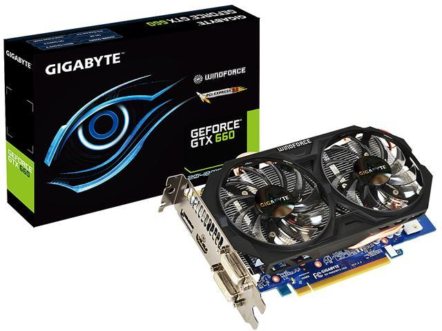 GIGABYTE GV-N660WF2-2GD REV2 G-SYNC Support GeForce GTX 660 2GB 192-bit GDDR5 PCI Express 3.0 HDCP Ready WindForce 2X Video Card