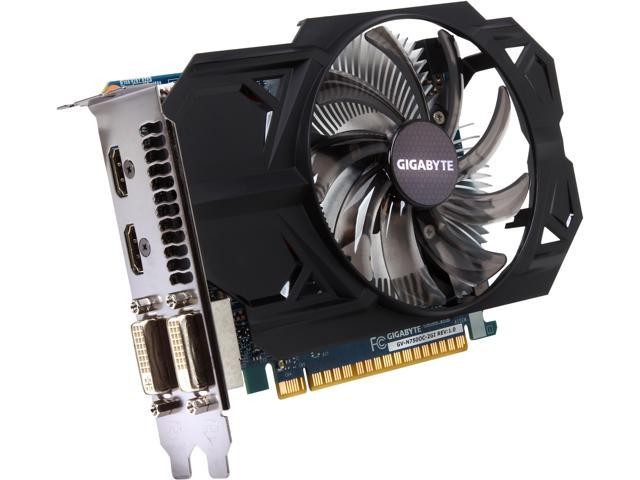 GIGABYTE GeForce GTX 750 DirectX 11.2 GV-N750OC-2GI Video Card