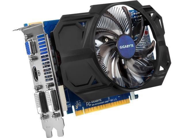 GIGABYTE Radeon R7 250X DirectX 11.1 GV-R725XOC-2GI 2GB 128-Bit GDDR5 PCI Express 3.0 x16 HDCP Ready ATX Video Card