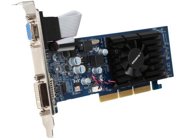 GIGABYTE GeForce 6200 DirectX 9 GV-N62-512L 512MB 64-Bit GDDR2 AGP 8X Low Profile Video Card