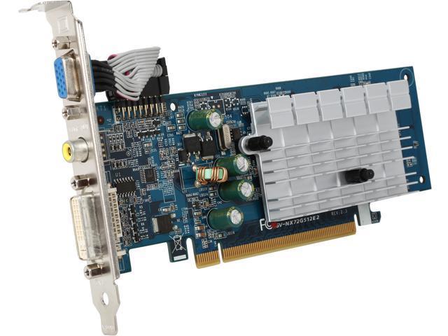 GIGABYTE GeForce 7200GS DirectX 9 GV-NX72G512E2 256MB 64-Bit GDDR2 PCI Express x16 Video Card
