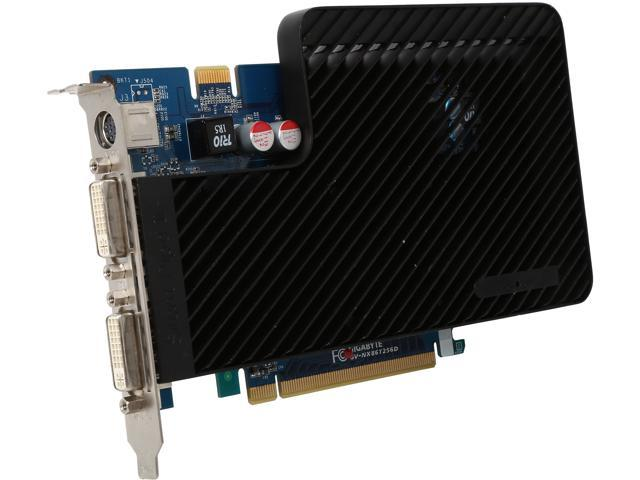 GIGABYTE GeForce 8600 GT DirectX 10 GV-NX86T256D 256MB 128-Bit GDDR3 PCI Express x16 SLI Support Video Card