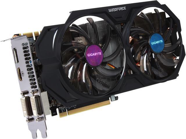 GIGABYTE GV-N760WF2OC-2GD G-SYNC Support GeForce GTX 760 2GB 256-Bit GDDR5 PCI Express 3.0 HDCP Ready Video Card