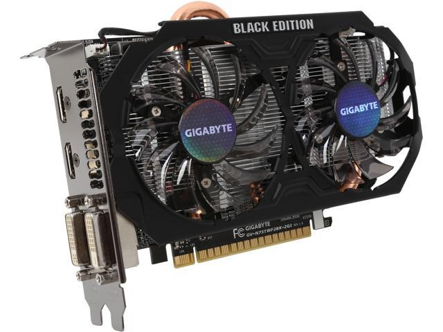 GIGABYTE GeForce GTX 750 Ti DirectX 11.2 GV-N75TWF2BK-2GI Video Card