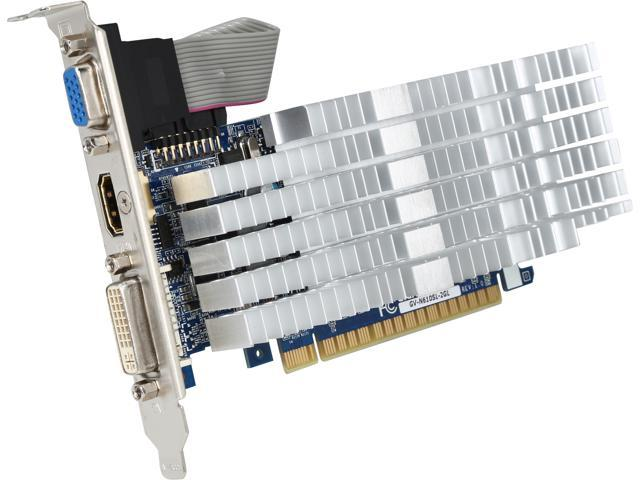 GIGABYTE GeForce GT 610 DirectX 11.2 GV-N610SL-2GL 2GB 64-Bit DDR3 PCI Express 2.0 HDCP Ready Low Profile Video Card