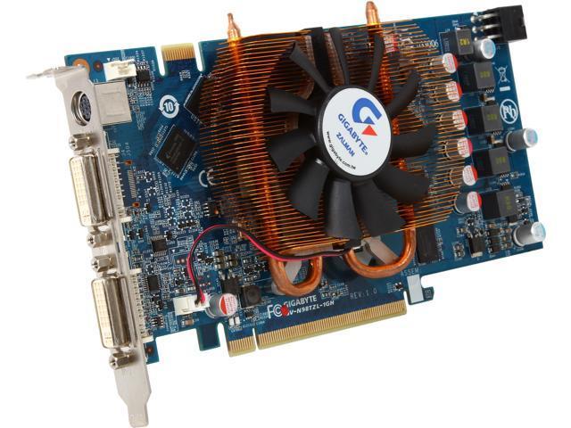 GIGABYTE GeForce 9800 GT DirectX 10 GV-N98TZL-1GH Video Card