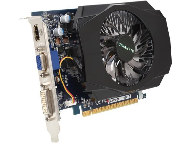 GIGABYTE GeForce GT 430 (Fermi) DirectX 11 GV-N430-2GI Video Card