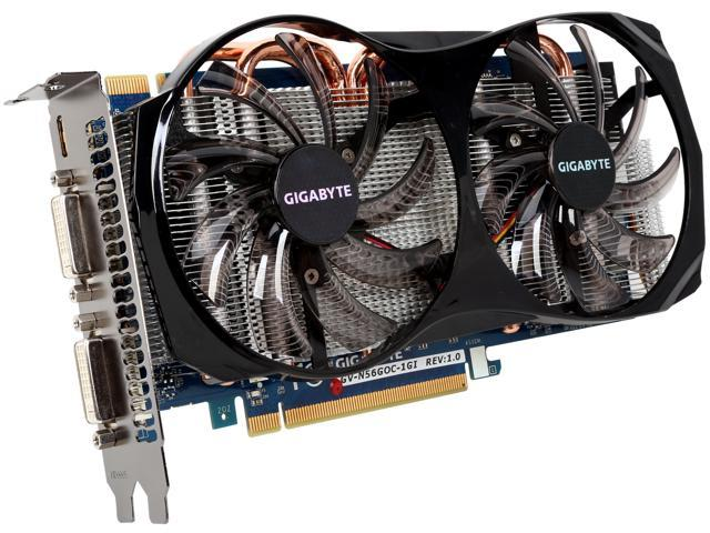 GIGABYTE GeForce GTX 560 (Fermi) DirectX 11 GV-N56GOC-1GI Video Card