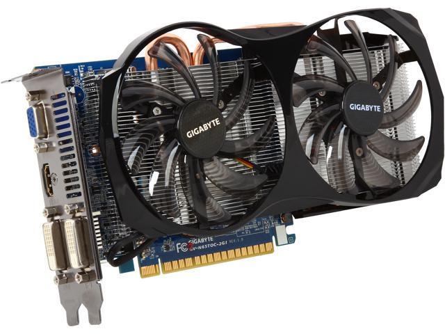 GIGABYTE GeForce GTX 650 Ti GV-N65TOC-2GI Video Card
