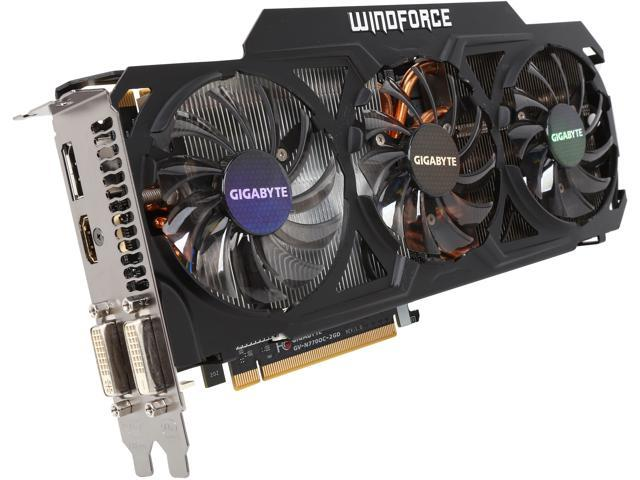 GIGABYTE GeForce GTX 770 GV-N770OC-2GD 2GB 256-Bit GDDR5 PCI Express 3.0 HDCP Ready WindForce 3X 450W Video Card