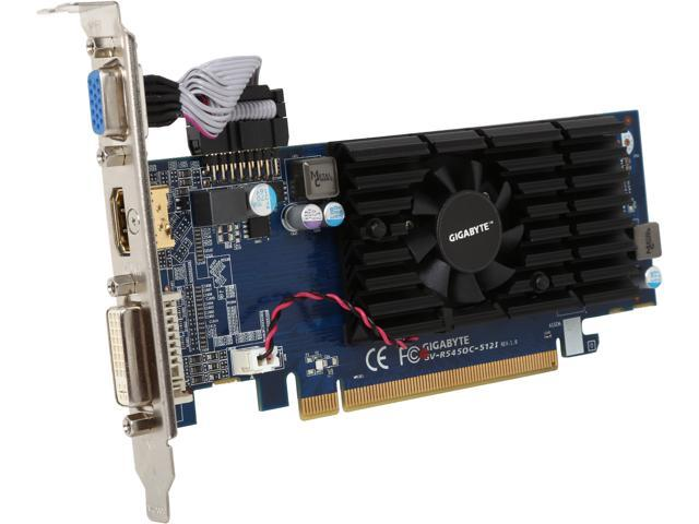 GIGABYTE Radeon HD 5450 (Cedar) DirectX 11 GV-R545OC-512I 512MB 64-Bit DDR3 PCI Express 2.1 x16 HDCP Ready Low Profile Video Card