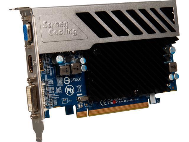 GIGABYTE Silent Series Radeon HD 5450 (Cedar) DirectX 11 GV-R545SC-1GI Video Card
