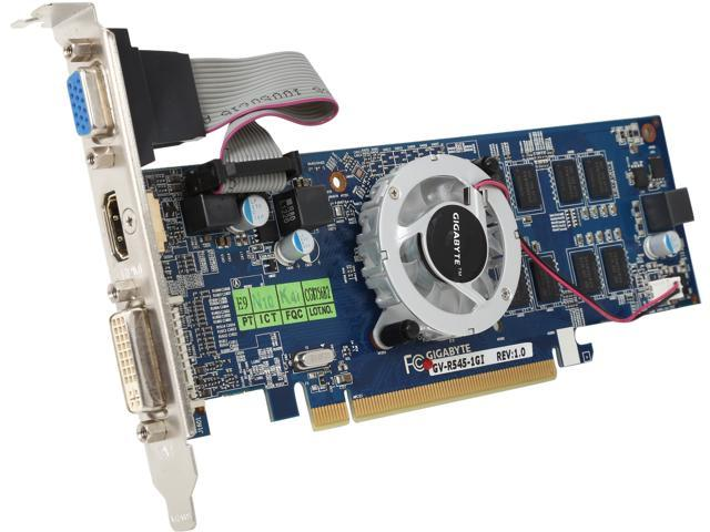GIGABYTE Radeon HD 5450 DirectX 11 GV-R545-1GI Video Card