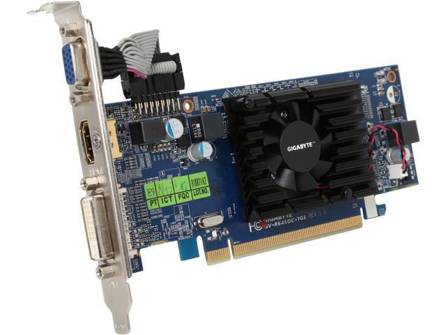 GIGABYTE Radeon HD 6450 DirectX 11 GV-R645OC-1GI Video Card