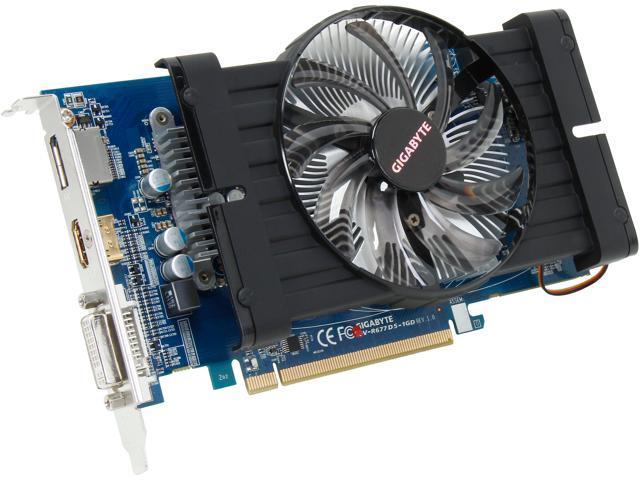 GIGABYTE Radeon HD 6770 DirectX 11 GV-R677D5-1GD Video Card