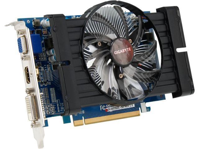 GIGABYTE GV-R775OC-1GI Radeon HD 7750 1GB 128-Bit GDDR5 PCI Express 3.0 x16 HDCP Ready Video Card Manufactured Recertified