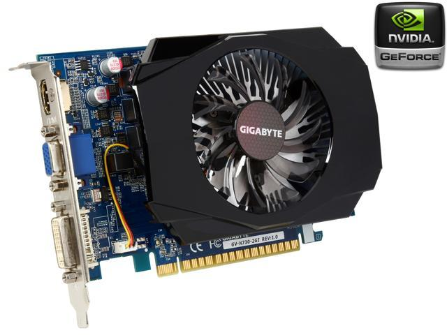 GIGABYTE GeForce GT 730 GV-N730-2GI 2GB 128-Bit DDR3 PCI Express 2.0 HDCP Ready Video Card