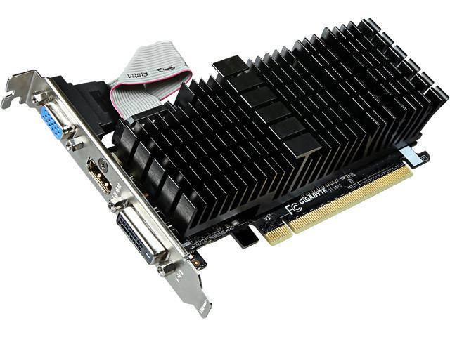 GIGABYTE GeForce GT 710 DirectX 12 GV-N710SL-2GL/REV2.0 2GB 64-Bit DDR3 PCI Express 2.0 x 8 Low Profile Video Card
