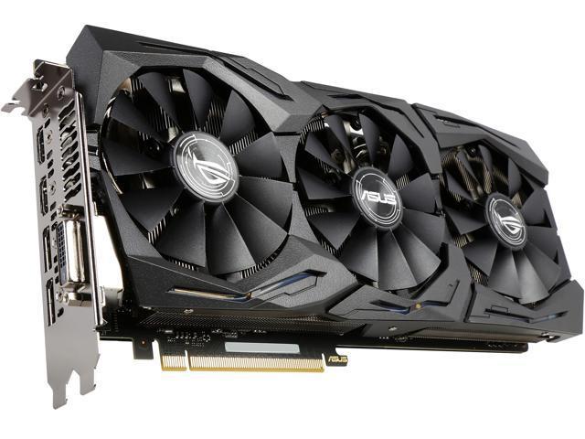 ASUS ROG GeForce GTX 1070 STRIX-GTX1070-O8G-GAMING 8GB 256-Bit GDDR5 PCI Express 3.0 HDCP Ready Video Card