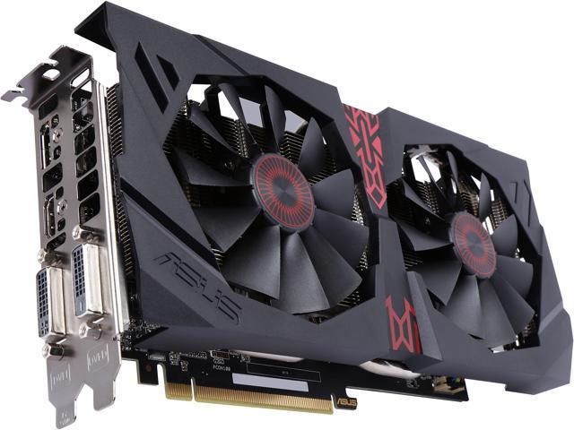 ASUS Radeon R9 380 STRIX-R9380-DC2-2GD5-GAMING 2GB 256-Bit GDDR5 PCI Express 3.0 HDCP Ready Video Card