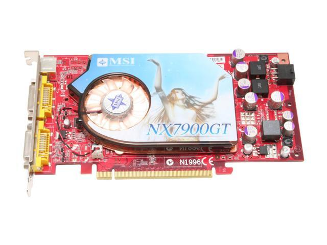 MSI NX7900GT-VT2D256E-HD GeForce 7900GT 256MB 256-bit GDDR3 PCI Express x16 HDCP Ready SLI Support Video Card