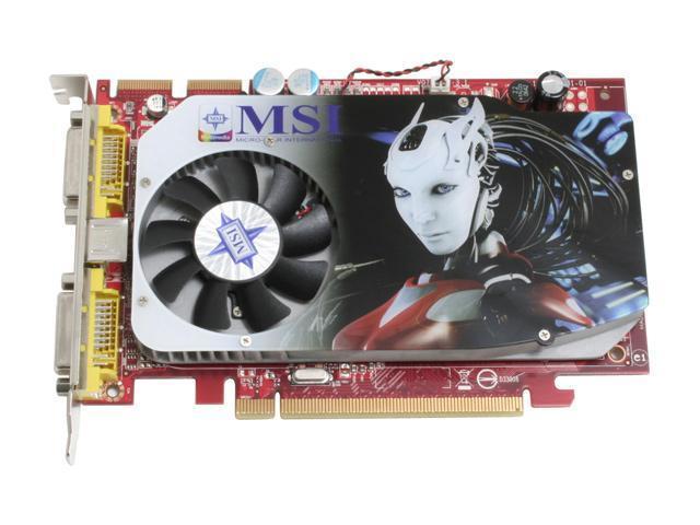 MSI RX1650XT-T2D256E Radeon X1650XT 256MB 128-bit GDDR3 PCI Express x16 Video Card