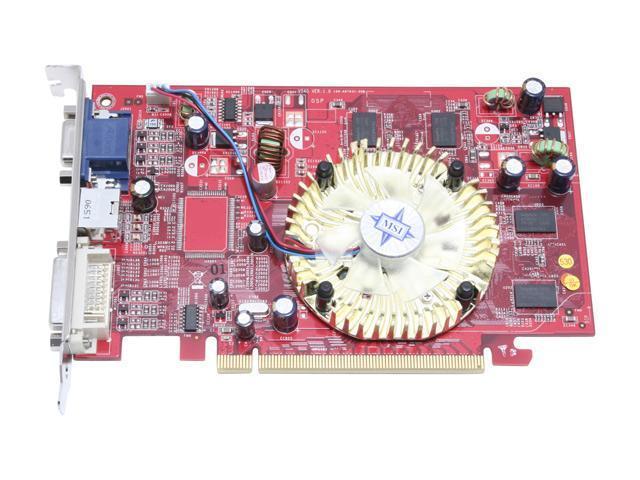 MSI RX1550-TD256E Radeon X1550 512MB(256MB on Board) 128-bit GDDR2 PCI Express x16 Video Card