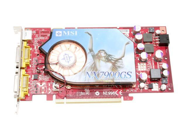 MSI NX7900GS-T2D512E-OC GeForce 7900GS 512MB 256-bit GDDR3 PCI Express x16 SLI Support Over CLock Edition Video Card