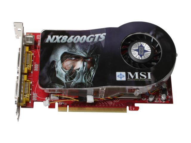MSI NX8600GTS-T2D256E-OC GeForce 8600 GTS 256MB 128-bit GDDR3 PCI Express x16 HDCP Ready SLI Support Video Card