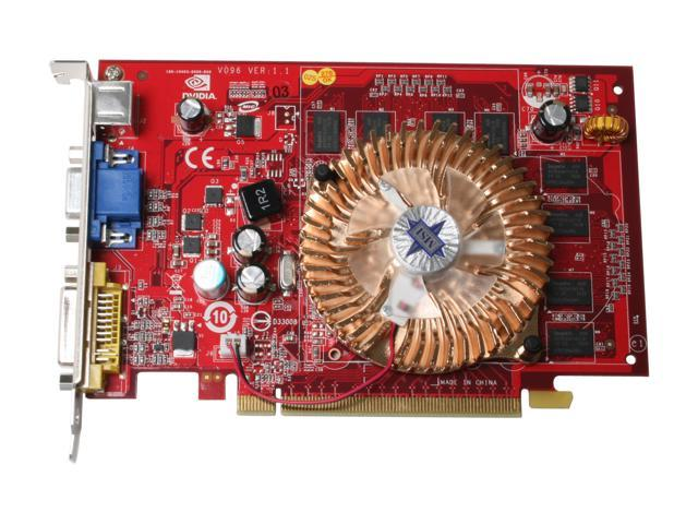 MSI NX8500GT-TD256E GeForce 8500 GT 256MB 128-bit GDDR2 PCI Express x16 SLI Support Video Card
