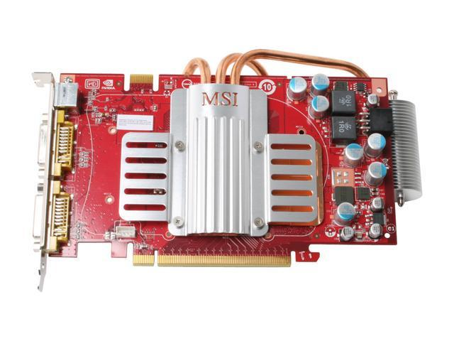 MSI NX8600GTS-T2D256EZ HD GeForce 8600 GTS 256MB 128-bit GDDR3 PCI Express x16 HDCP Ready SLI Support Video Card