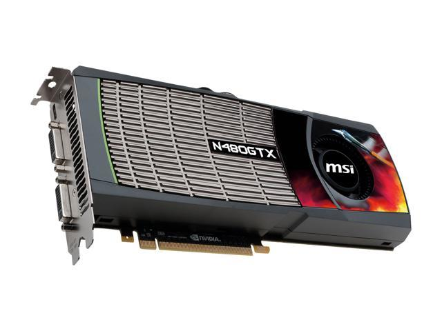 MSI GeForce GTX 480 (Fermi) DirectX 11 N480GTX-M2D15-B Video Card