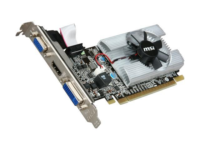 MSI N210-MD1G/D3 GeForce 210 1GB 64-Bit DDR3 PCI Express 2.0 x16 HDCP Ready Low Profile Ready Video Card