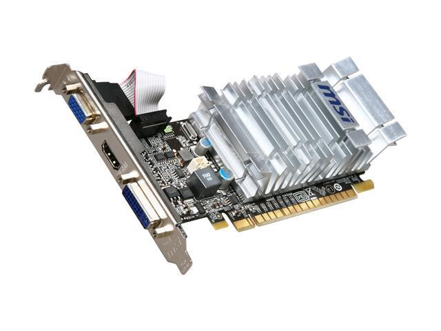 MSI GeForce 8400 GS DirectX 10 N8400GS-MD1GD3H/LP 1GB 64-Bit DDR3 PCI Express 2.0 x16 HDCP Ready Low Profile Video Card