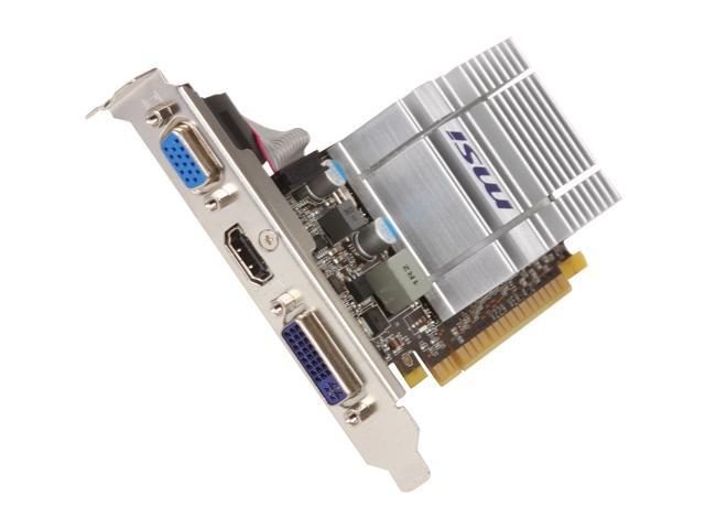 MSI GeForce 8400 GS DirectX 10 N8400GS-MD512H/TC 512MB DDR3 (Turbocache 1GB) 64-Bit DDR3 PCI Express 2.0 x16 HDCP Ready Low Profile Video Card